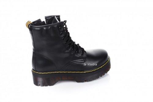 Ботинки женские Seastar 7007 (весенне-осенние, черный, эко-кожа)