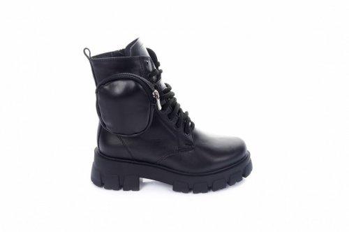 Ботинки женские Staturi 7465 (зимние, черный, кожа)
