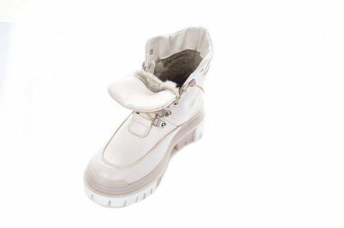 Ботинки женские Maria Sonet 7480 (зимние, бежевый, кожа)