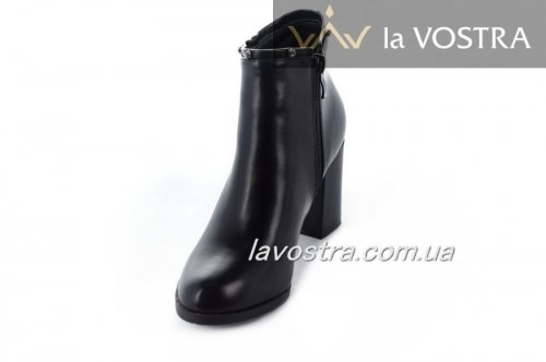 Ботинки женские Mejdelli 7027 (весенне-осенние, черный, эко-кожа)