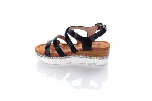 Босоножки женские Seastar 7197 (лето, черный, эко-кожа)