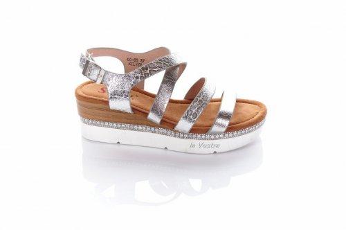 Босоножки женские Seastar 7196 (лето, серебро, эко-кожа)