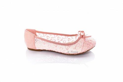 Балетки женские Diamantione 2274 (весна-лето-осень, розовый, текстиль-сетка)