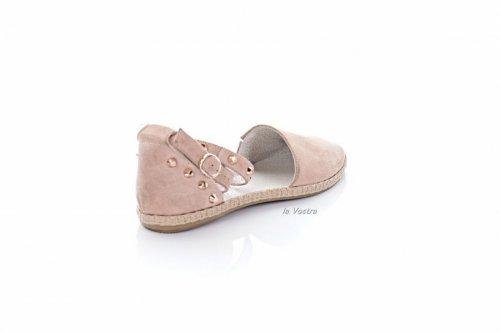 Балетки женские Днепр 0592 (летние, розовый, замш)