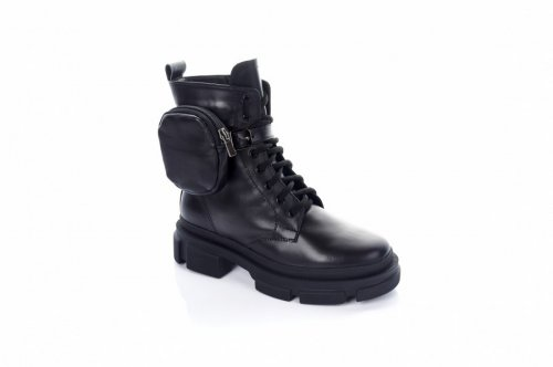Ботинки женские Staturi 7486 (зимние, черный, кожа)