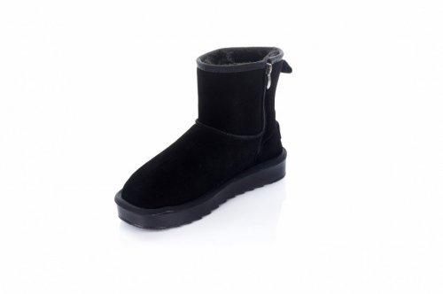 Угги женские  7459 (зимние, черный, эко-замш)