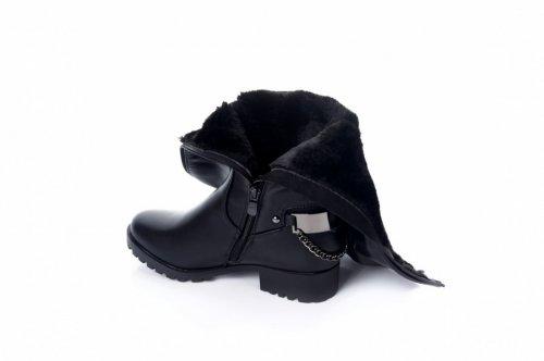 Сапоги женские Basida 2203 (зимние, черный, эко-кожа)