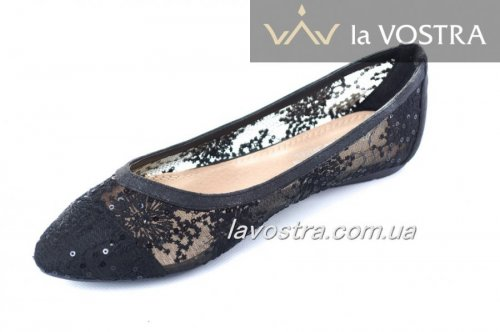 Балетки женские Sweet shoes 2240 (весна-лето-осень, черный)