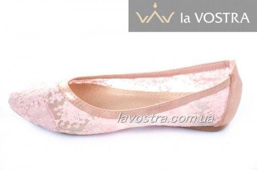 Балетки женские Sweet shoes 2239 (весна-лето-осень, розовый)