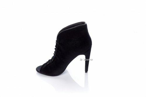 Ботинки женские Vices 2649 (весна-лето-осень, черный, эко-замш)