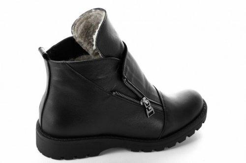 Ботинки женские Днепр 6747 (зимние, черный, кожа)