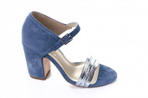 Босоножки женские Lirio 5904 (лето, голубой, замш)