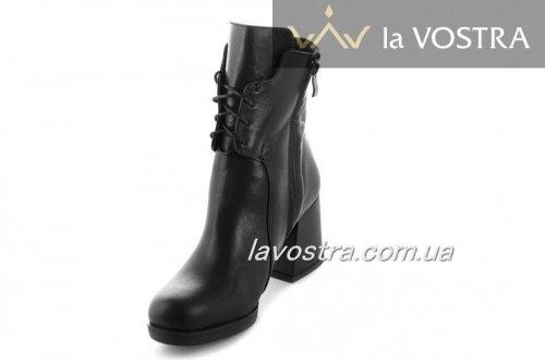 Ботинки женские Днепр 6863 (зимние, черный, кожа)