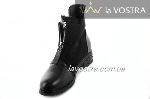 Ботинки женские Weide 6858 (зимние, черный, эко-замш)