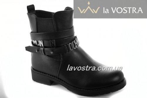 Ботинки женские Weide 6856 (весенне-осенние, черный, эко-кожа)