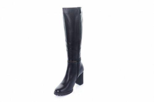 Сапоги женские Basida 6851 (зимние, черный, эко-кожа)