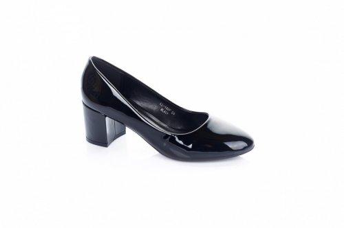 Туфли женские Seastar 6617 (весна-лето-осень, черный, эко-лак)