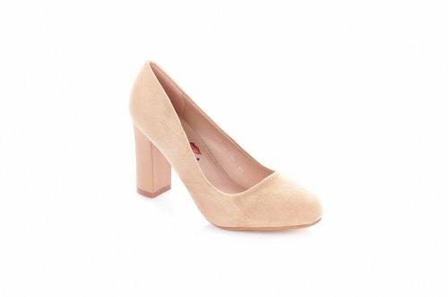 Туфли женские Yes mile 7236 (весна-лето-осень, бежевый, эко-замш)