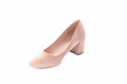 Туфли женские Small Swan 6602 (весна-лето-осень, хаки, эко-замш)