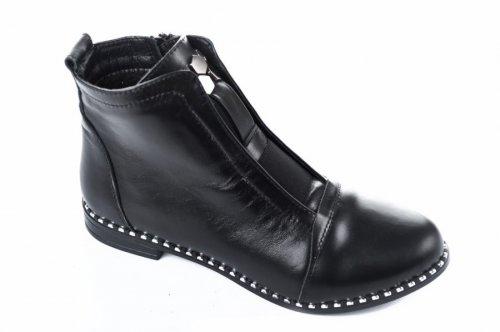 Ботинки женские Днепр 101чк (весенне-осенние, черный, кожа)