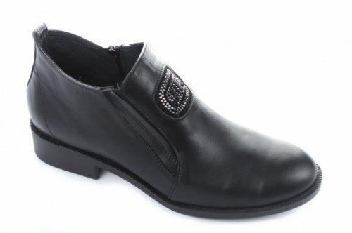 Ботинки женские Olevit 5625 (весенне-осенние, черный, кожа)