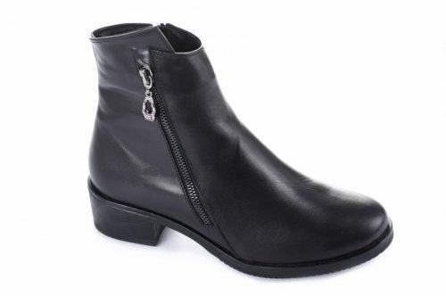 Ботинки женские Днепр 5495 (весенне-осенние, черный, кожа)