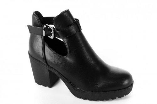 Ботинки женские Seastar 6606 (весенне-осенние, снейк, эко-кожа)
