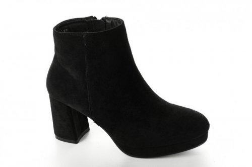 Ботинки женские Seastar 6710 (весенне-осенние, черный, эко-замш)