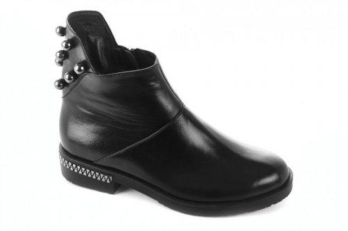 Ботинки женские Днепр 6767 (зимние, черный, кожа)