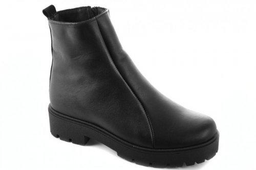 Ботинки женские Devis 6806 (зимние, черный, кожа)