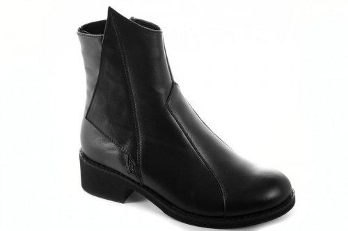 Ботинки женские Днепр 6859 (зимние, черный, кожа)