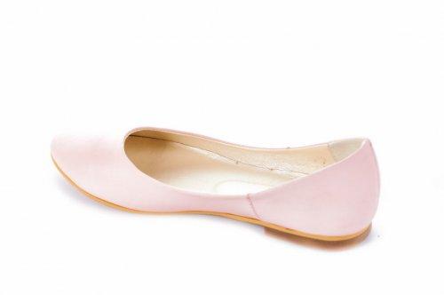 Балетки женские Devis 2214 (лето, розовый, кожа)
