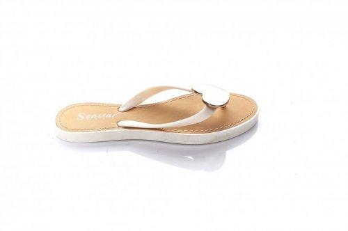 Ветнамки женские Seastar 7188 (лето, белый, силикон)
