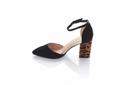 Туфли женские BBC 5855 (весна-лето-осень, черный, эко-замш)