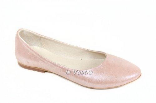 Балетки женские Днепр 2222 (весна-лето-осень, розовый)