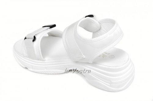 Босоножки женские Small Swan HS91 (лето, белый, эко-кожа)
