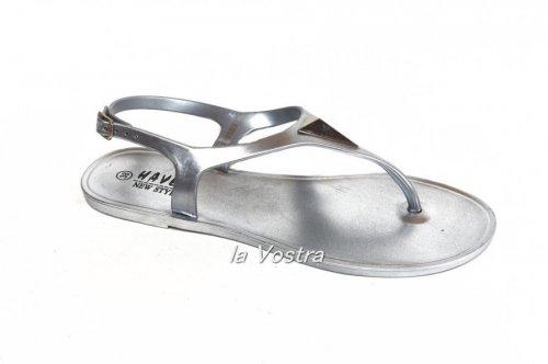 Ветнамки женские Haver KM08A-14 (лето, серебро, силикон)