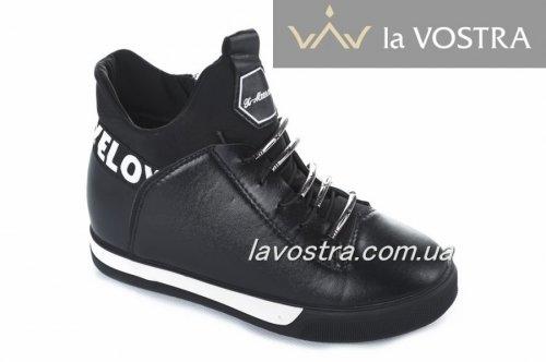 Ботинки женские X-Mmm 2819 (весенне-осенние, черный, эко-кожа)