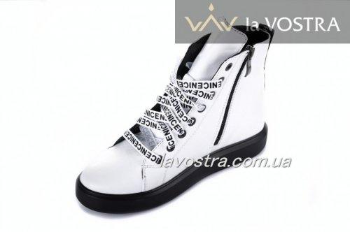 Ботинки женские Esve stule 803бк (весенне-осенние, белый, кожа)