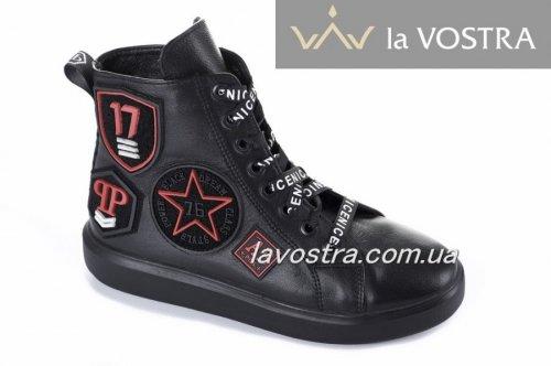 Ботинки женские Esve stule 803чк (весенне-осенние, черный, кожа)