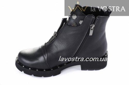 Ботинки женские Sezar 5513 (весенне-осенние, черный, кожа)
