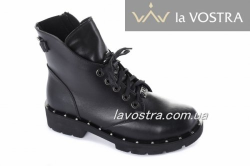 Ботинки женские Devis 5470 (весенне-осенние, черный, кожа)