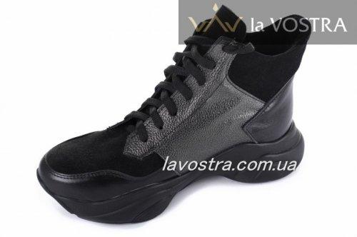 Ботинки женские Ladi Успех (весенне-осенние, черный, кожа)