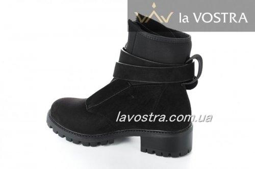 Ботинки женские Aotoria 2765 (весенне-осенние, черный, эко-кожа)