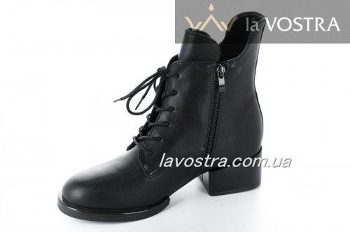 Ботинки женские Xiu xian 5490 (весенне-осенние, черный, эко-кожа)
