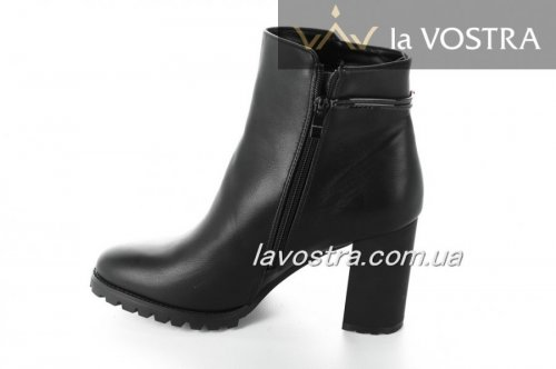 Ботинки женские Basida 2860 (весенне-осенние, черный, эко-кожа)