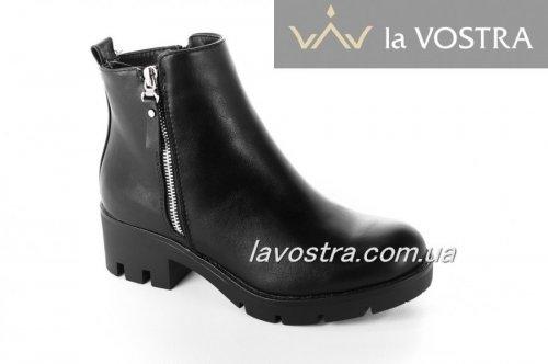 Ботинки женские Seastar 6594 (весенне-осенние, черный, эко-кожа)
