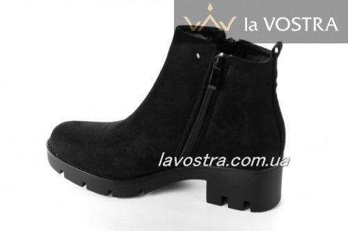Ботинки женские Seastar 6599 (весенне-осенние, черный, эко-замш)
