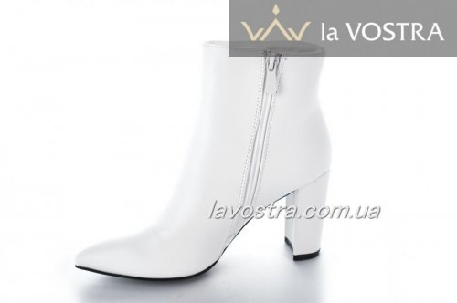 Ботинки женские Seastar 6596 (весенне-осенние, белый, эко-кожа)