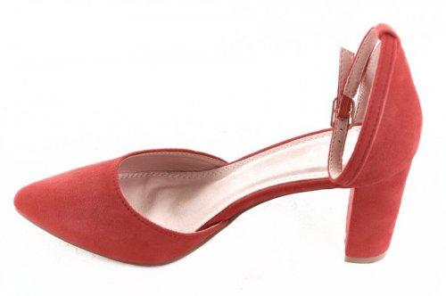 Туфли женские Yes mile 5893 (лето, красный, эко-замш)